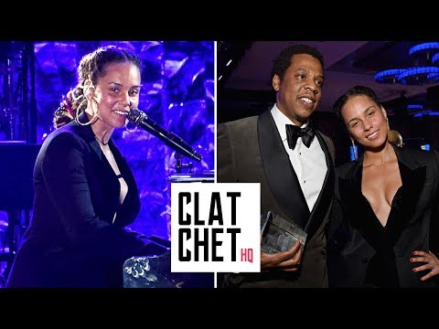Alicia Keys tributes Jay Z at Clive Davis Pre-Grammy party