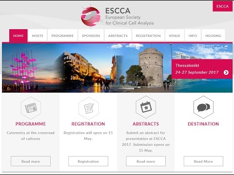 ESCCA 2017 - Cytometry at the crossroad of cultures - The city of Thessaloniki