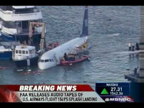 "U.S. Air Cockpit Audio Tapes ""We're Gonna Be In The Hudson"""