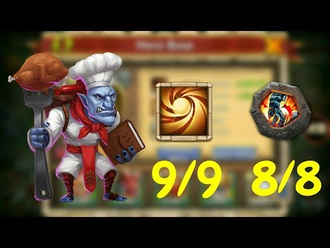 9/9 Sacred Light 8/8 Stone Skin WallaWalla In Action L Castle Clash