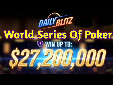 World Series Of Poker : #4♣️Mega Spins, Dialy Blitz, Winning Tables♣️