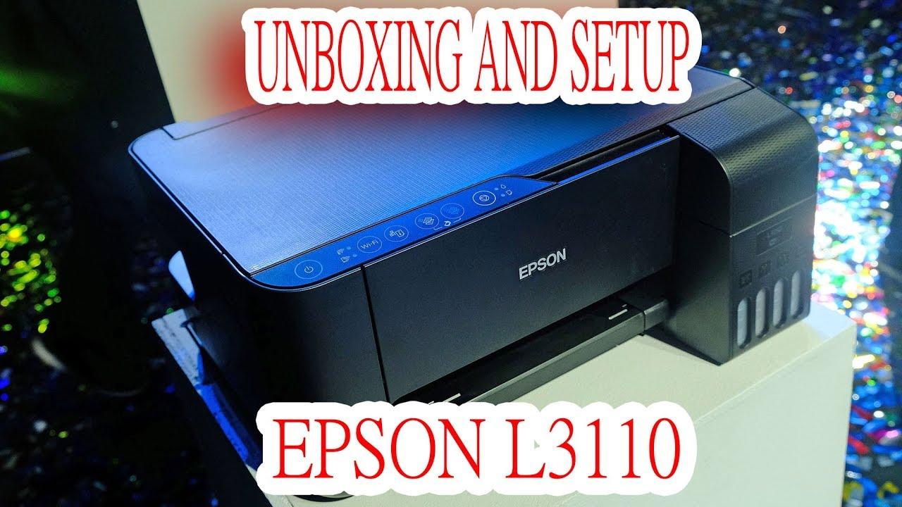 Unboxing And Setup Epson L3110 3150 Youtube