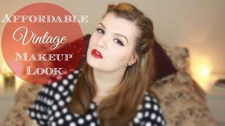 Affordable Vintage Makeup Look | LiddieLoo Thumbnail