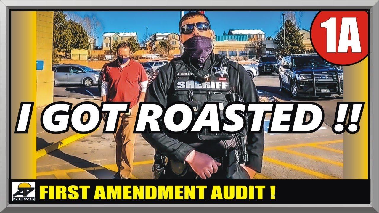 TYRANT COP'S EGO DESTROYED !! - ARAPAHOE COLORADO SHERIFF - First Amendment Audit - Amagansett Press