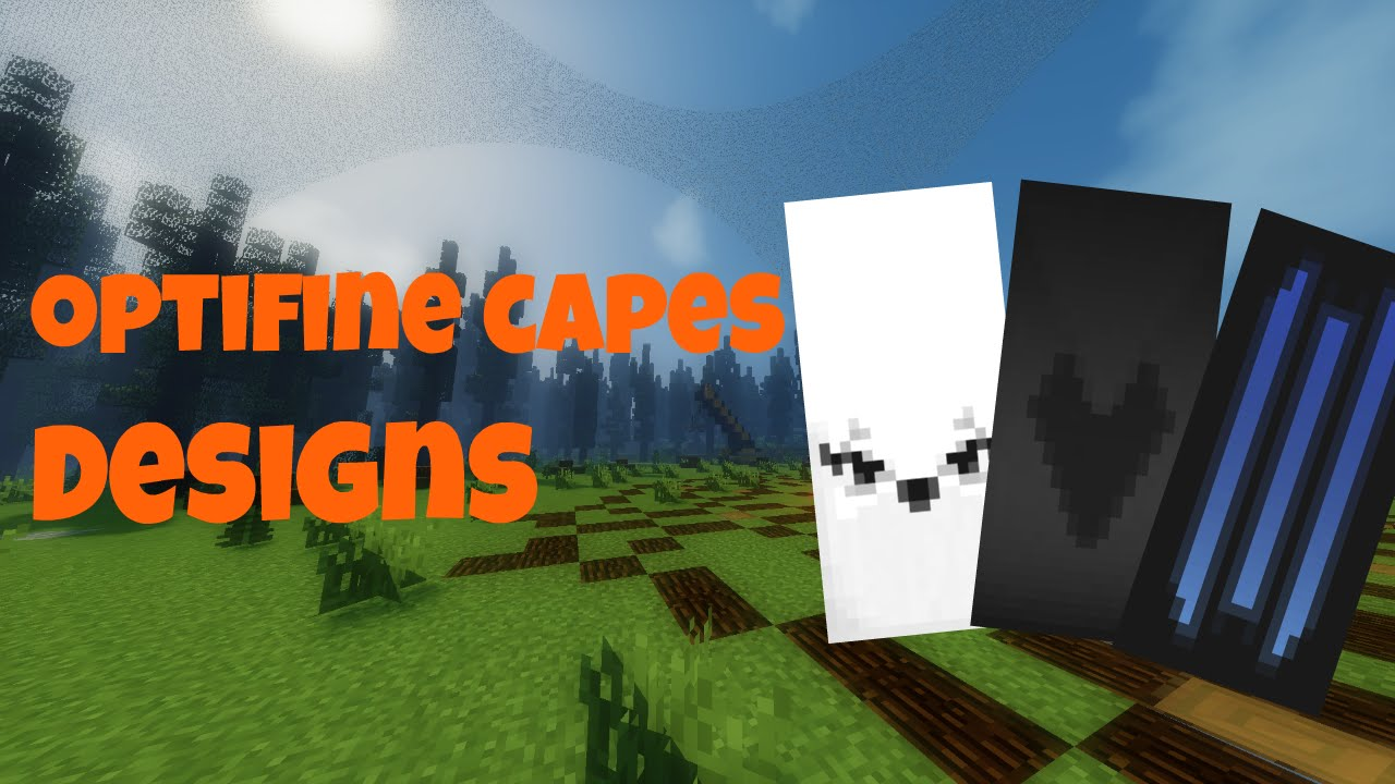 Optifine Cape Designs Tutorial - Cat Eyes, Black Heart and Cool Stripes