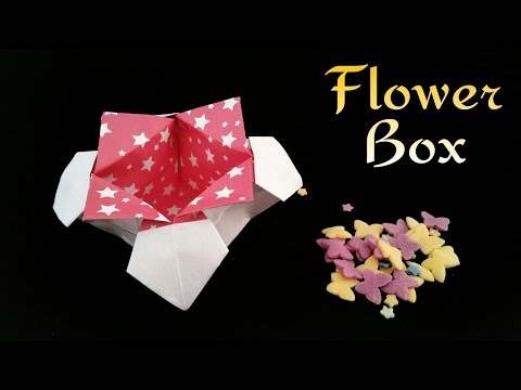 Tutorial for Origami Rose Gift Box designed by Shin Han Gyo - YouTube | 360x480