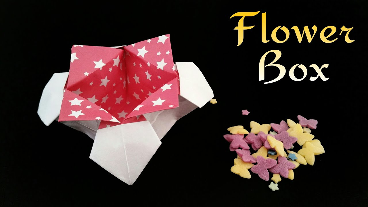 Flower Box Useful Origami Tutorial By Paper Folds Youtube
