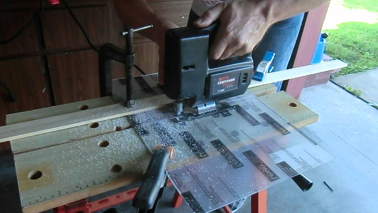 Cutting Lexan With A Jigsaw Youtube