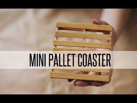 DIY MINI PALLET COASTER
