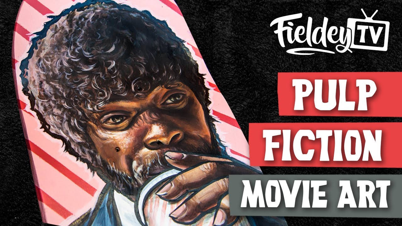 Pulp Fiction Cult Movie Skateboard Painting Mashup