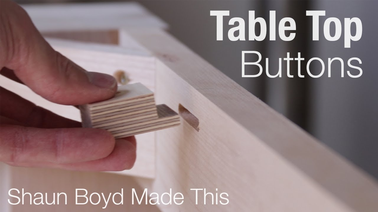 how to attach a table top with buttons