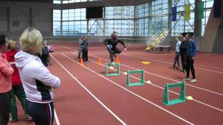 видео Барьерный бег Техника барьерного бега