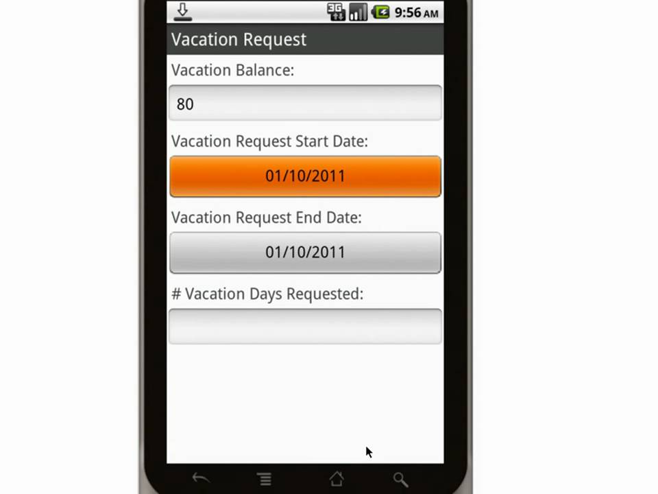 Canvas Employee Vacation Pto Request Form Mobile App.Mp4 - Youtube