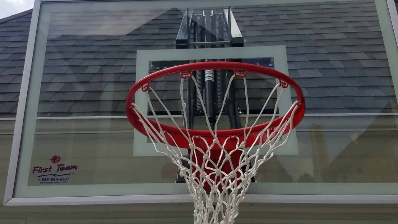 Roof Master ~ Adjustable Roof Mounted Basketball Hoop By First Team Sports