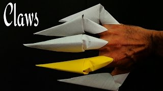 Action Fun Origami - Paper 'Halloween Finger Claws' -  A4 sheet - Very Easy to make.