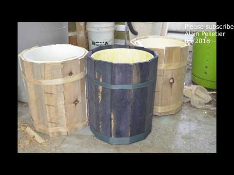 Reclaimed Junk:  making a planter with pallet wood and food container