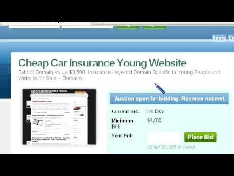 Cheap Car Insurance Young Domain For Sale