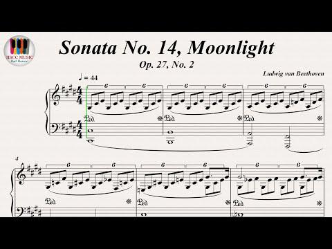 Sonata No. 14, Moonlight Op. 27, No. 2 - Ludwig van Beethoven, Piano