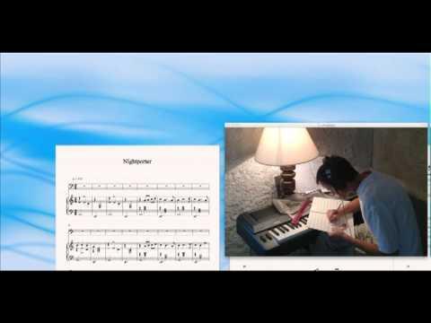 Nightporter, Japan, David Sylvian, Sibelius sheet