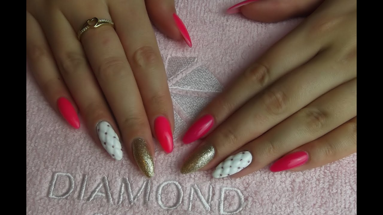 Quilted Nails Pikowane Paznokcie Semilac Youtube
