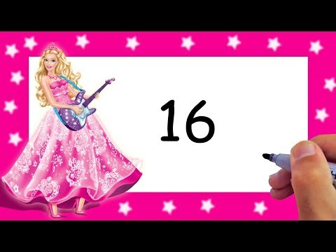 Drawing Barbie Easy With Numbers 16 Step By Step AMAZING ART
