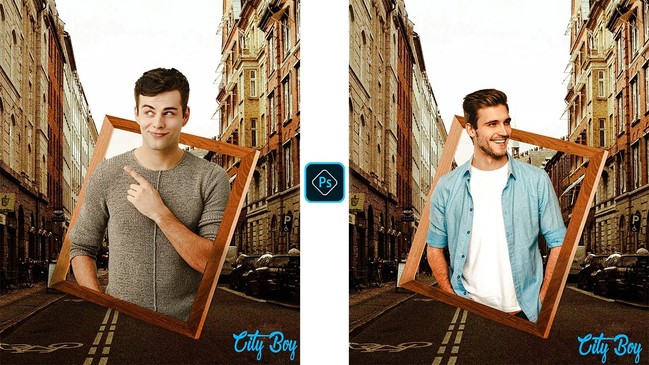 Photo Frame Editing Effect|Photoshop CC Tutorial