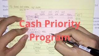 Partnership Installment Liquidation - Cash Priority Program (Part 1)