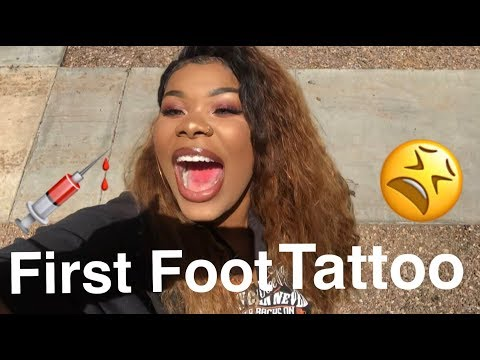 Life With Lay| FIRST FOOT TATTOO!! Why Did I Agree To Do This?!😫💉