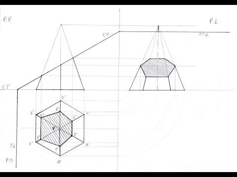 Sezione Piramide Base Esagonale
