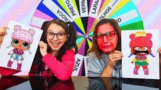 DESAFIO DA ROLETA MISTERIOSA DE CORES (MYSTERY WHEEL OF COLORS CHALLENGE) | Luluca thumbnail