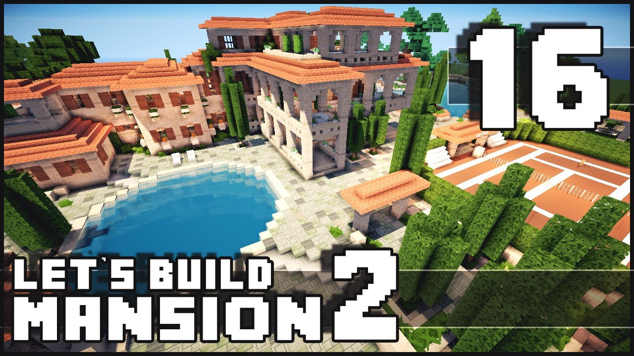 Minecraft how to make a mansion part 16 let 39 s call it for How to build a house in california