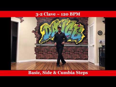 Salsa Dance for Beginners - Rhythm 3-2 clave - 120 BPM