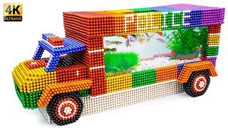 DIY - Build Amazing Police Car Fish Tank Aquarium With Magnetic Balls (Satisfying) - Magnet Balls