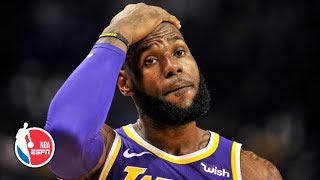 lebrons 1st season with lakers one of the biggest disappointments of his career nba on espn