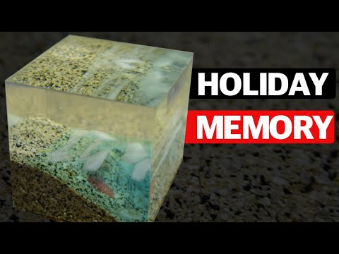Holiday Paperweight Cape Verde🇨🇻 🏖 | Resin Landscape 🌍| Epoxy Resin Beach 🌊| DIY | Tutorial