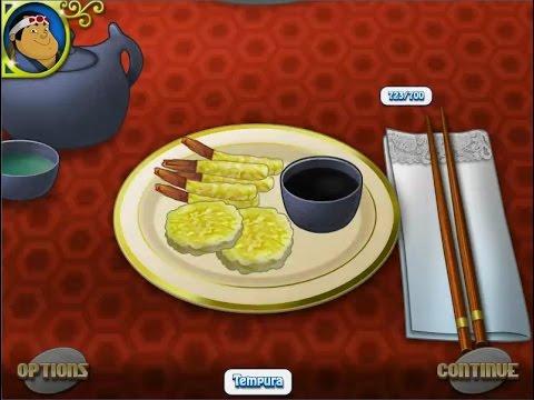 เกมส์ทำอาหารญี่ปุ่น เทมปุระ - Tempurai Japanese food Cooking Game 天ぷら,튀김