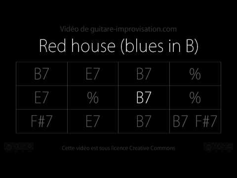 Red House : Backing track Blues in B
