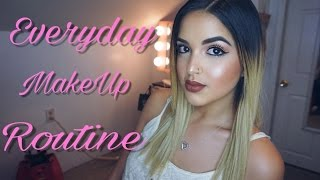 Everyday Makeup Routine w/ Dark Lips | Nashaly Torres