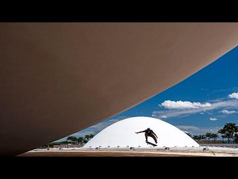 Two Skateboarders Ride Architect Oscar Niemeyer's Iconic Buildings in Brazil