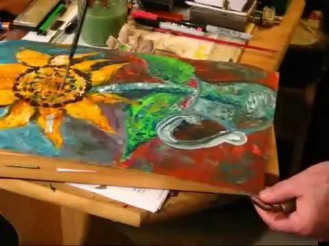 Hướng dẫn vẽ Hoa Hướng dương – Paint Sunflower P3 – Luutrong.Vn