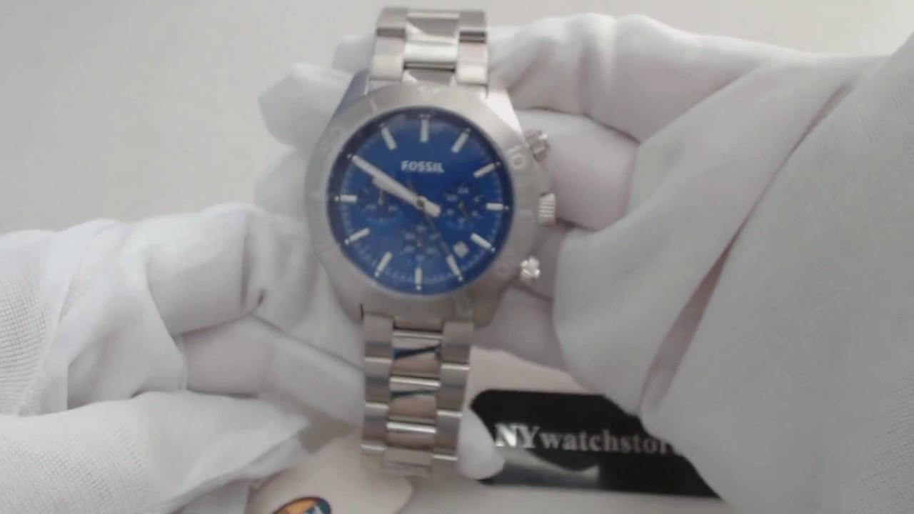 Mens Fossil Retro Traveler Chronograph Watch Ch2894 Youtube Ch2869