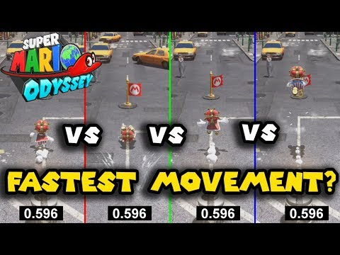 Super Mario Odyssey: Movement Speed Analysis - What is the Fastest / Most Efficient?