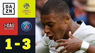 Kylian Mbappes Doppelpack erlöst Tuchels PSG: Guingamp - PSG 1:3 | Ligue 1 | Highlights | DAZN