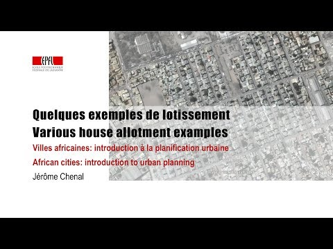 Quelques exemples de lotissement / Various house allotment e