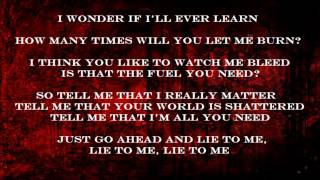 Sick Sense - Pop Evil Lyrics on Screen