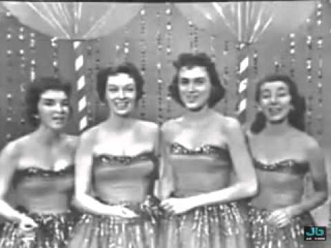 The chordettes lollipop the saturday night beechnut show feb 22