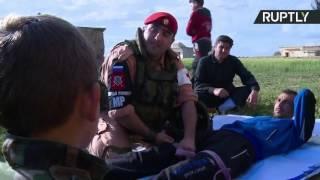 الشرطة العسكرية الروسية تقوم بتدريب اهالي القرى في ريف حلب