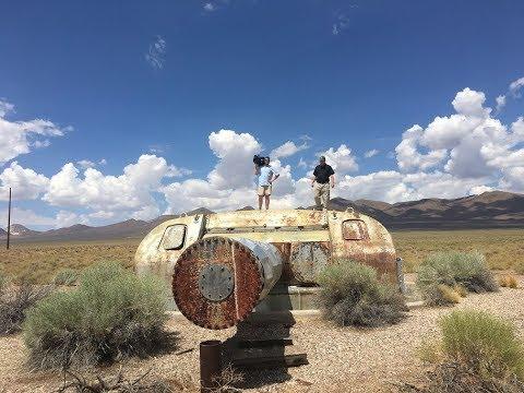 WWII naval artifact rusting in Nevada desert