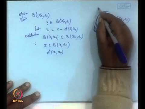 Mod-01 Lec-03 Various Concepts in a Metric Space
