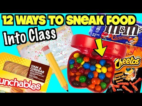 12 Creative Ways To Sneak Food And Candy Into Class Using School Supplies | Nextraker